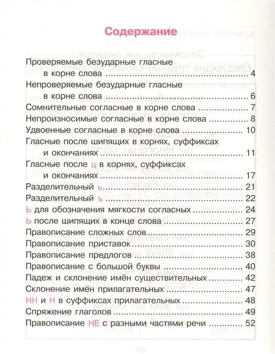 Трудные орфограммы в таблицах и схемах