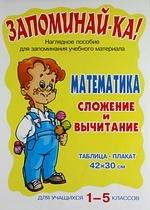 Запоминай-ка Математика Сложение и вычитание Для уч-ся 1-5 кл запоминай ка русский язык морфологический разбор 3 5 кл