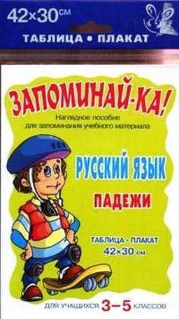 Запоминай-ка Русский язык Падежи Для уч-ся 3-5 кл запоминай ка русский язык морфологический разбор 3 5 кл