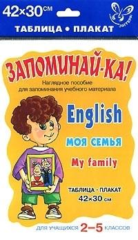 Запоминай-ка Англ язык Моя семья Для уч-ся 2-5 кл запоминай ка русский язык морфологический разбор 3 5 кл