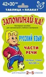 Запоминай-ка Русский язык Части речи 2-5 кл запоминай ка англ язык рассказ о себе для уч ся 2 5 кл