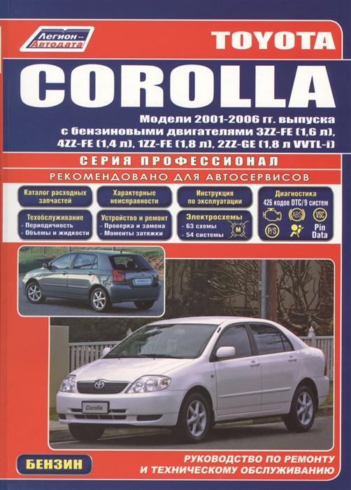 Toyota Corolla Леворул 2001-2006 с бенз двиг