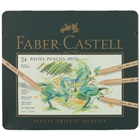 "Карандаши пастельные 24цв ""Pitt"", метал.кор, Faber-Castell"