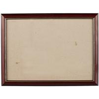 Рама 25*35 деревянная, цв. коричневый с золотом, лак, со стеклом, Двуреченский