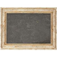 Рама 21*30 деревянная, цв. белый с золотом, патина, со стеклом, Двуреченский