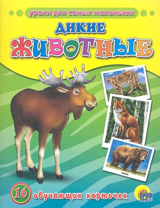 цена на Дикие животные 16 обучающих карточек