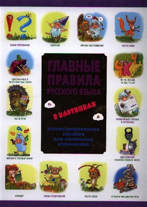 Главные правила русского языка в картинках Иллюстрированное пособие для маленьких отличников