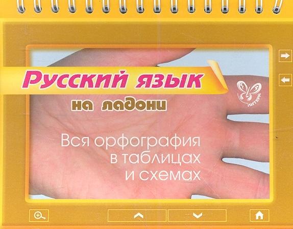 Русский язык на ладони Вся орфография в таблицах и схемах