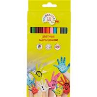 Цветные карандаши «Рисовашка», 12 цветов