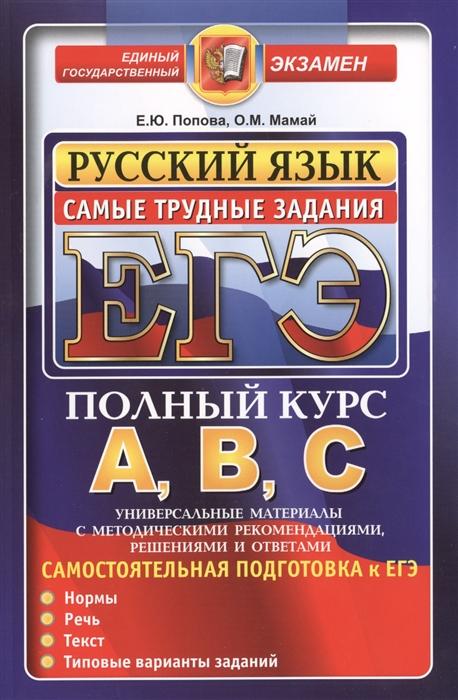 ЕГЭ Самые трудные задания ЕГЭ Русский язык Подготовка к ЕГЭ Нормы Речь Текст Типовые варианты заданий