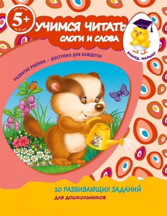 купить Голицына Е. Учимся читать Слоги и слова 10 развивающих заданий для дошкольников Для детей от 5 лет по цене 37 рублей