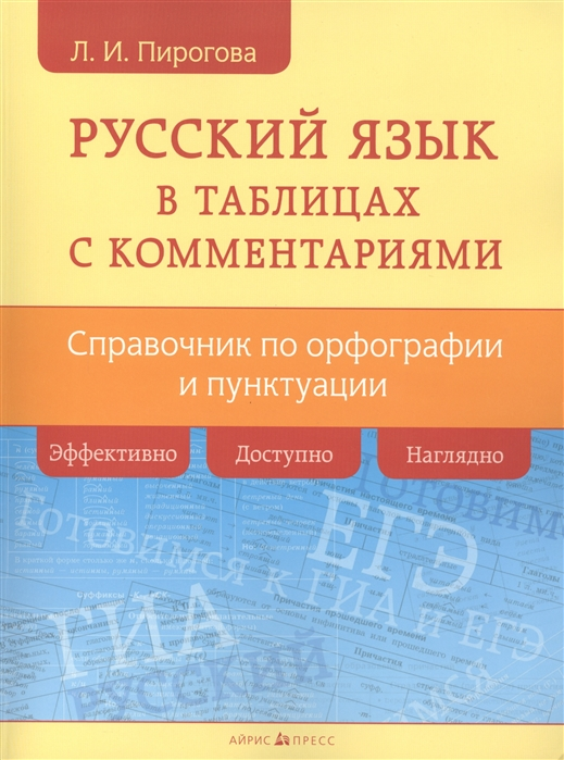 Русский язык в таблицах с комментариями Справочник по орфографии и пунктуации