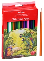 Карандаши цветные 36цв к/к, подвес, Art idea