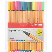 Ручки капиллярные, Stabilo, 15 цветов