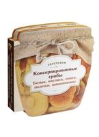 Консервированные грибы. Белые, маслята, опята, лисички, шампиньоны