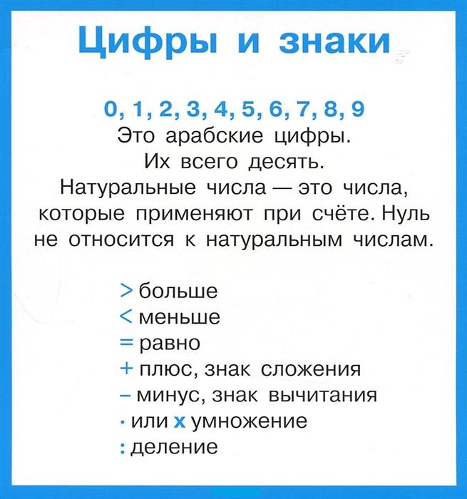 Правила по математике в таблицах 1-4 кл Набор карточек правила по математике в таблицах 1 4 классы набор из 28 карточек