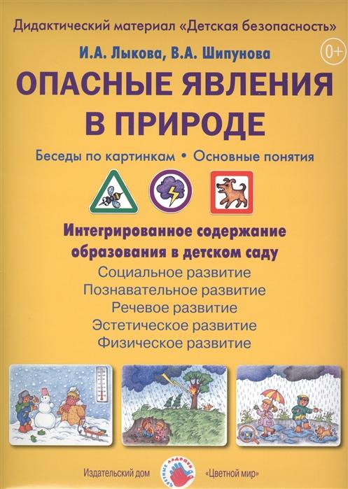 Лыкова И., Шипунова В. Опасные явления в природе Беседы по картинкам Основные понятия Дидактический материал Детская безопасность