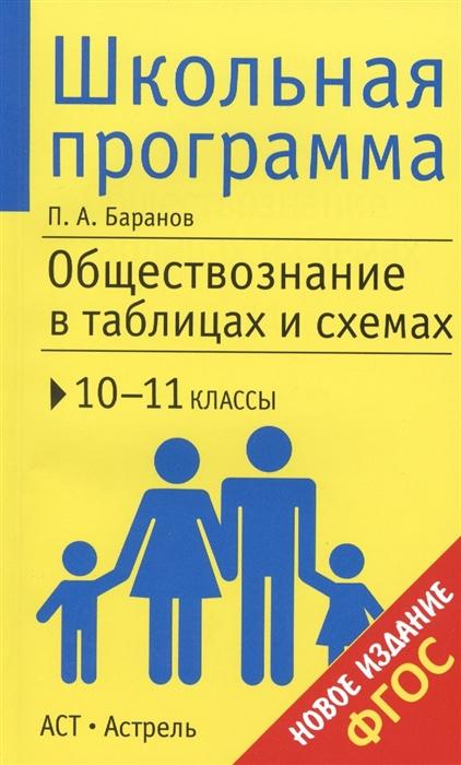 Баранов П. Обществознание в таблицах и схемах 10-11 классы Справочные материалы цена и фото