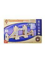 Сборная деревянная модель Тауэрский мост (P055) (8/15) (21,5х56,5х11см) (5+) (упаковка) (Чернусь)