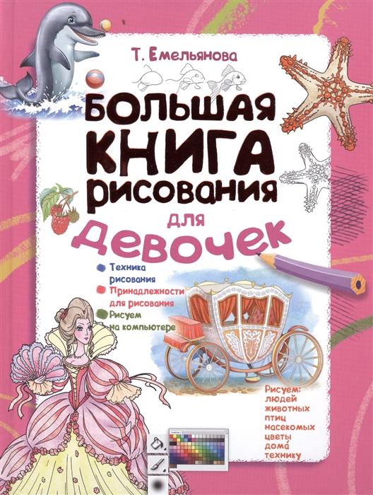 Купить Большая книга рисования для девочек, АСТ, Рисование
