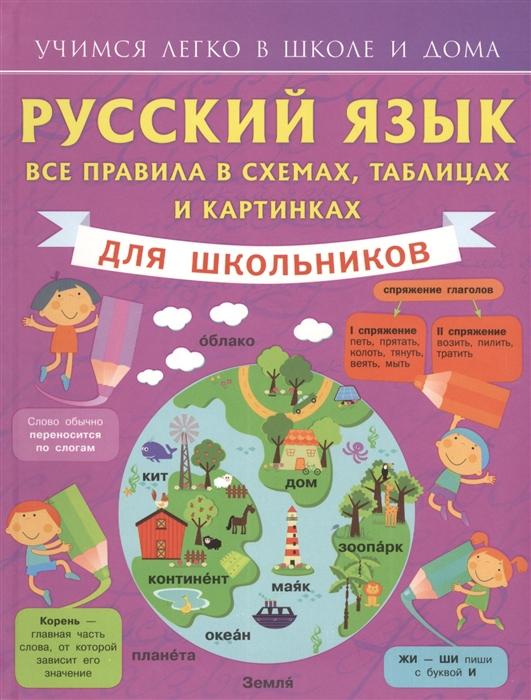 Русский язык Все правила в схемах таблицах и картинках для школьников