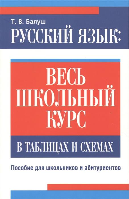 Балуш Т. Русский язык весь школьный курс в таблицах и схемах