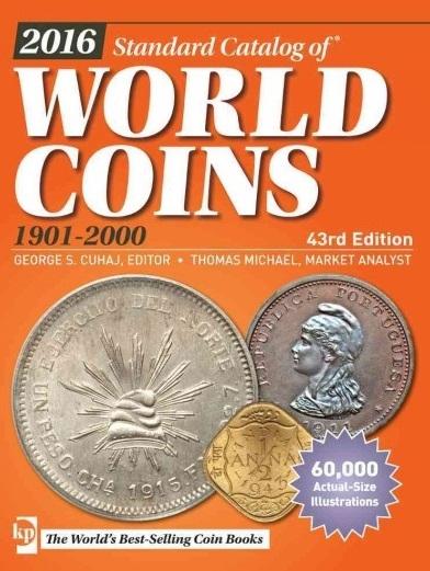 2016 Standart Catalog of World Coins 1901-2000