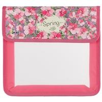"""Папка для тетрадей А5 """"Весна"""" 1отд., липучка, лам.картон, пластик, Оникс"""