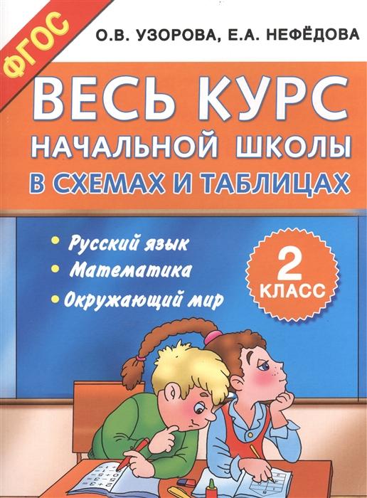 Узорова О Нефедова Е Весь курс начальной школы в схемах и таблицах 2-й класс Русский язык Математика Окружающий мир