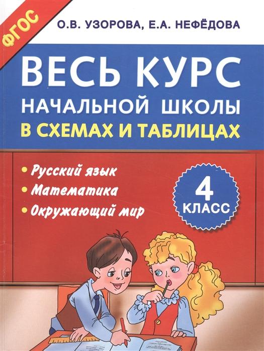 Узорова О Нефедова Е Весь курс начальной школы в схемах и таблицах 4-й класс Русский язык Математика Окружающий мир