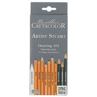 """Набор для рисования """"Artist Studio Line"""" 11шт (карандаши ч/гр 3шт, угольные карандаши 4 шт, бел мел карадаш, сангина, сепия, растушевка), Cretacolor"""