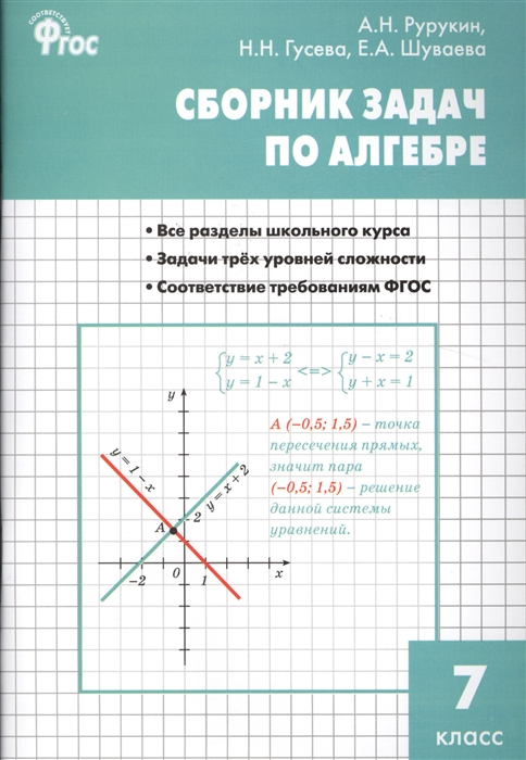 купить Рурукин А., Гусева Н., Шуваева Е. Сборник задач по алгебре 7 класс по цене 116 рублей