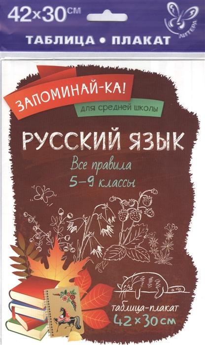 Фото - Русский язык Все правила 5-9 классы Таблица-плакат русский язык все правила 5 9 классы таблица плакат