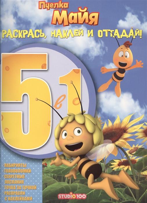 Купить Раскрась наклей и отгадай 5 в 1 РНО5-1 1604 Пчелка Майя, Эгмонт Россия ЛТД, ЗАО, Рисование
