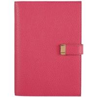 """Ежедневник недат. А5 160л """"Юфть"""" розовый, кожзам, мягкий переплет, тонир. вставной блок, на кнопке, фольгир.срез, ляссе"""