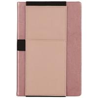 """Ежедневник недат. А5 160л """"Баффало"""" розовый, кожзам, тв.переплет, офсет, карман для моб.тлф, ляссе"""