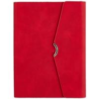 """Ежедневник недат. А5 160л """"Бейбискин"""" красный, кожзам, тв.переплет, тонир.блок, магнит.клапан, ляссе"""