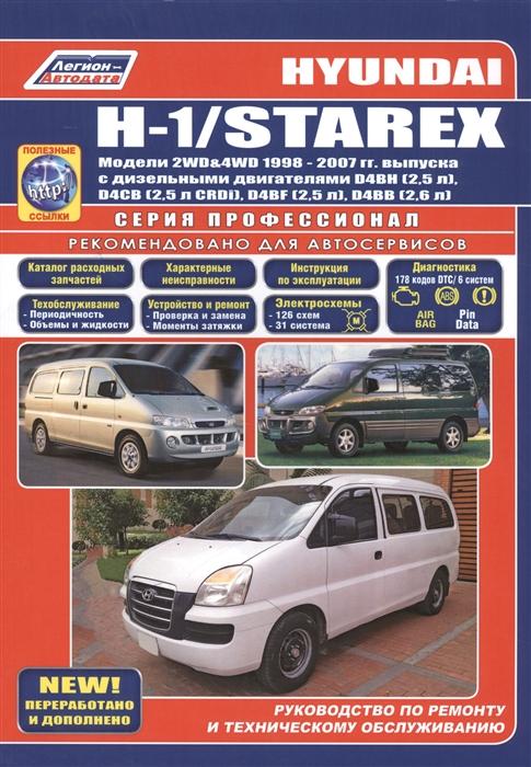 цена на Hyundai H-1 Starex Модели 2WD 4WD 1998-2007 гг выпуска с дизельными двигателями D4BH 2 5 л D4CB 2 5 л CRDi D4BF 2 5 л D4BB 2 6 л Руководство по ремонту и техническому обслуживанию полезные ссылки