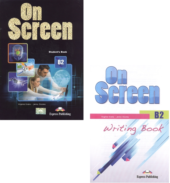 On Screen B2 Student s Book Writing Book комплект из 2-х книг в упаковке