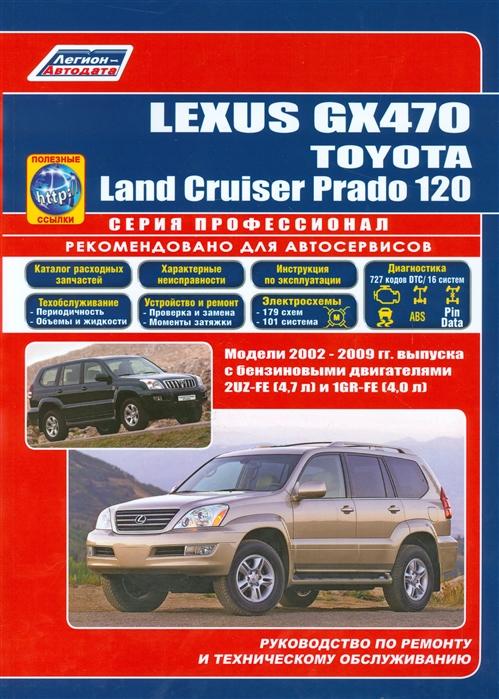 Lexus GX 470 Toyota Land Cruiser Prado 120 Модели 2002-2009 гг выпуска с бензиновыми двигателями 2UZ-FE 4 7 л и 1GR-FE 4 0 л Руководство по ремонту и техническому обслуживанию полезные ссылки ковры в салон seintex toyota land cruiser prado 120 lexus gx 470 2002 2009