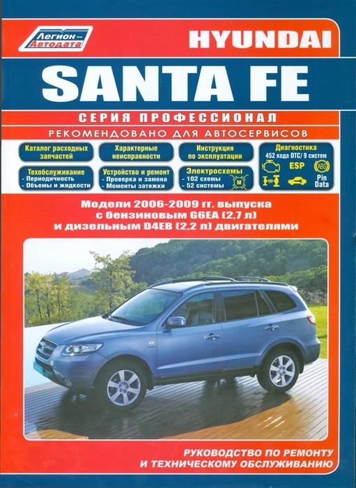 Hyundai Santa Fe Модели 2006-2009 гг выпуска с бензиновым G6EA 2 7 л и дизельным D4EB 2 2 л Common Rail двигателями Руководство по ремонту и техническому обслуживанию фото