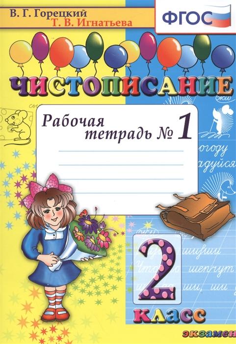 Горецкий В., Игнатьева Т. Чистописание Рабочая тетрадь 1 2 класс