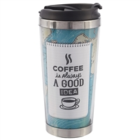 Термостакан «Coffee. На карте мира», 350 мл