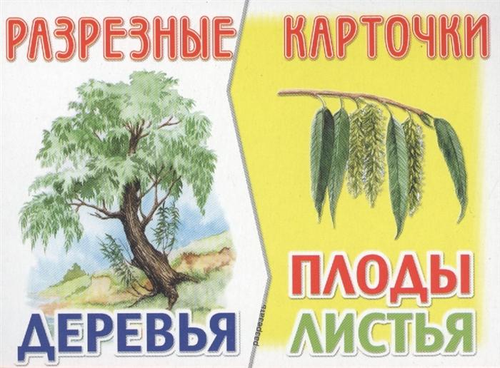 Разрезные карточки Деревья Плоды Листья цена