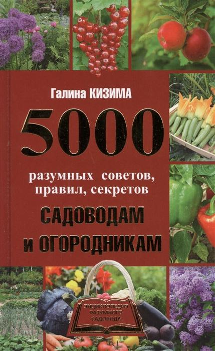 Кизима Г. 5000 разумных советов правил секретов садоводам и огородникам кизима г 365 разумных советов садоводам и огородникам мягк кизима г аст