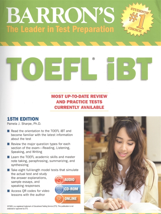 Sharpe P. Barron s Toefl iBT 2MP3 ч 1 2 audio cd-rom online цены онлайн