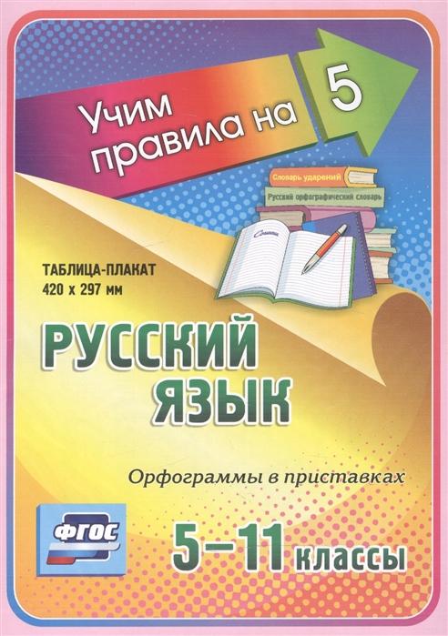 Фото - Русский язык Орфограммы в приставках 5-11 классы Таблица-плакат русский язык все правила 5 9 классы таблица плакат