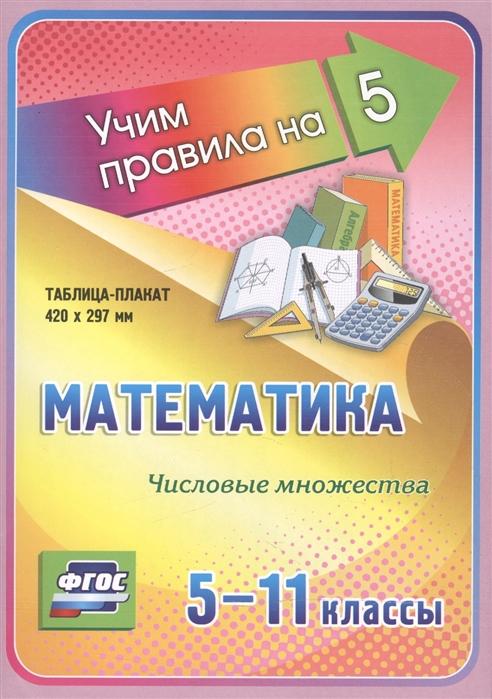 все цены на Математика Числовые множества 5-11 классы Таблица-плакат онлайн