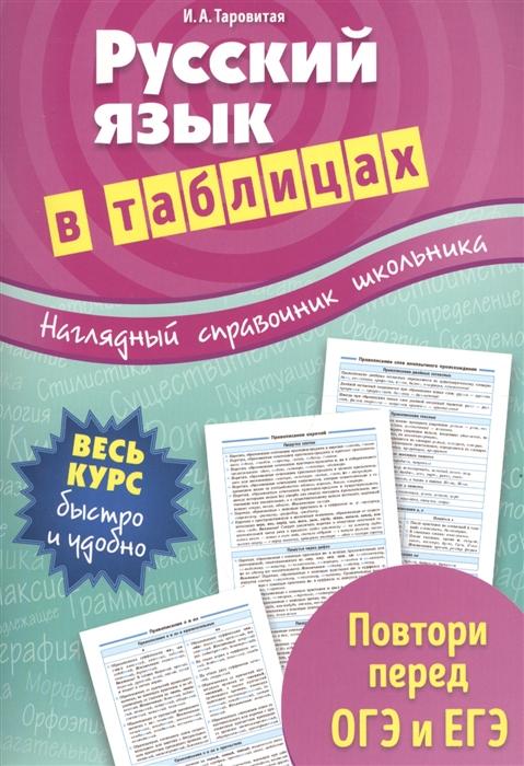 Таровитая И. Русский язык в таблицах