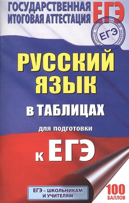 Савченкова Г. ЕГЭ Русский язык в таблицах 10-11 классы цены онлайн